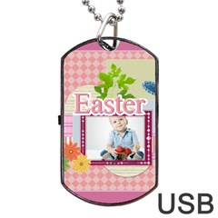 Easter By Easter   Dog Tag Usb Flash (two Sides)   Eehsiw8ujbxl   Www Artscow Com Front