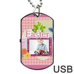 Easter By Easter   Dog Tag Usb Flash (two Sides)   Eehsiw8ujbxl   Www Artscow Com Back