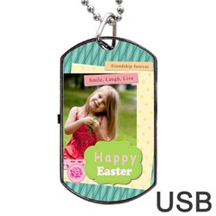 Easter By Easter   Dog Tag Usb Flash (two Sides)   By2tzd3t7f39   Www Artscow Com Front