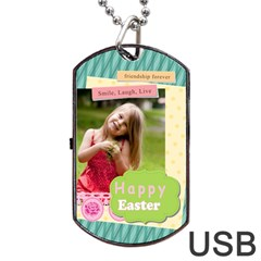 Easter By Easter   Dog Tag Usb Flash (two Sides)   J7xd3j4pnzl6   Www Artscow Com Back