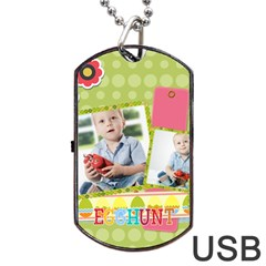 Easter By Easter   Dog Tag Usb Flash (two Sides)   Zurz68ybcv4o   Www Artscow Com Front