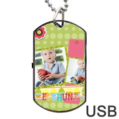 Easter By Easter   Dog Tag Usb Flash (two Sides)   Zurz68ybcv4o   Www Artscow Com Back