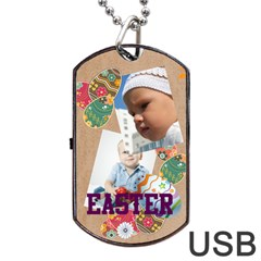 Easter By Easter   Dog Tag Usb Flash (two Sides)   Vggqyom9i6iv   Www Artscow Com Front