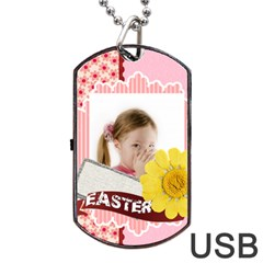 Easter By Easter   Dog Tag Usb Flash (two Sides)   Eqc7bugvxuer   Www Artscow Com Back