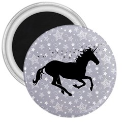 Unicorn On Starry Background 3  Button Magnet by StuffOrSomething