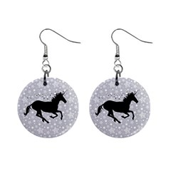 Unicorn on Starry Background Mini Button Earrings by StuffOrSomething