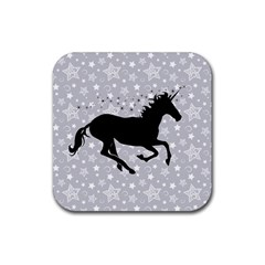 Unicorn on Starry Background Drink Coaster (Square) by StuffOrSomething