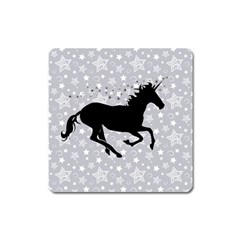 Unicorn On Starry Background Magnet (square) by StuffOrSomething