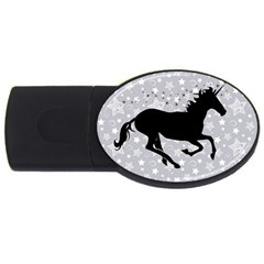 Unicorn on Starry Background 2GB USB Flash Drive (Oval)