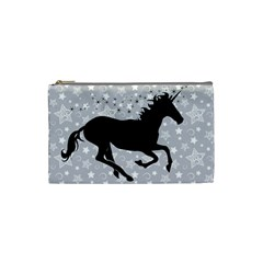 Unicorn on Starry Background Cosmetic Bag (Small) by StuffOrSomething