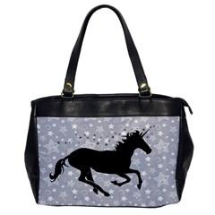 Unicorn on Starry Background Oversize Office Handbag (One Side)