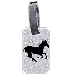 Unicorn On Starry Background Luggage Tag (one Side) by StuffOrSomething