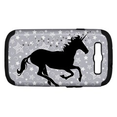 Unicorn On Starry Background Samsung Galaxy S Iii Hardshell Case (pc+silicone) by StuffOrSomething