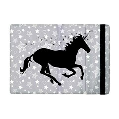 Unicorn On Starry Background Apple Ipad Mini Flip Case by StuffOrSomething