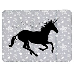 Unicorn On Starry Background Samsung Galaxy Tab 7  P1000 Flip Case by StuffOrSomething
