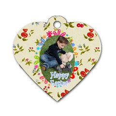 Easter By Easter   Dog Tag Heart (two Sides)   L7rd18gzb1hk   Www Artscow Com Front