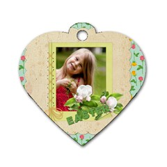 Easter By Easter   Dog Tag Heart (two Sides)   5wrdmx0p3p2w   Www Artscow Com Front