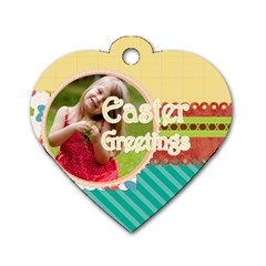 Easter By Easter   Dog Tag Heart (two Sides)   Eawj5jggns2l   Www Artscow Com Back