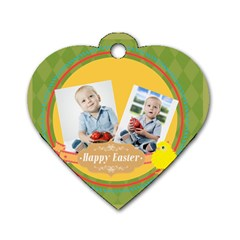 Easter By Easter   Dog Tag Heart (two Sides)   3458igil4d6f   Www Artscow Com Front
