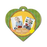 easter - Dog Tag Heart (Two Sides)
