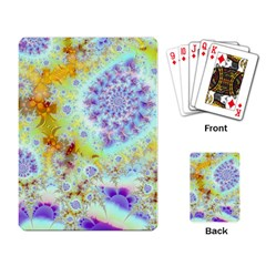 Golden Violet Sea Shells, Abstract Ocean Playing Cards Single Design by DianeClancy
