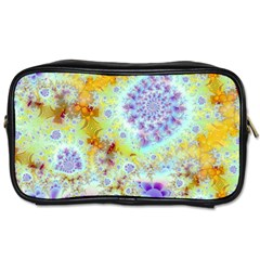 Golden Violet Sea Shells, Abstract Ocean Travel Toiletry Bag (one Side) by DianeClancy