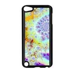 Golden Violet Sea Shells, Abstract Ocean Apple Ipod Touch 5 Case (black) by DianeClancy