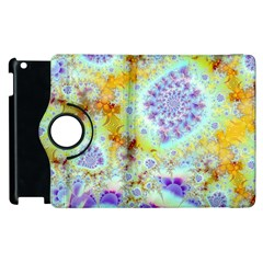 Golden Violet Sea Shells, Abstract Ocean Apple Ipad 3/4 Flip 360 Case by DianeClancy