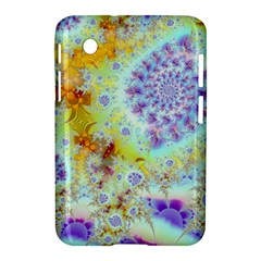 Golden Violet Sea Shells, Abstract Ocean Samsung Galaxy Tab 2 (7 ) P3100 Hardshell Case  by DianeClancy