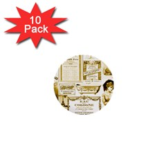 Parisgoldentower 1  Mini Button (10 Pack) by misskittys