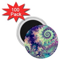 Violet Teal Sea Shells, Abstract Underwater Forest 1 75  Magnet (100 Pack)  by DianeClancy
