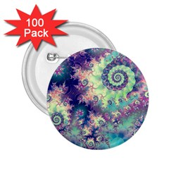 Violet Teal Sea Shells, Abstract Underwater Forest 2 25  Button (100 Pack) by DianeClancy
