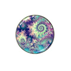 Violet Teal Sea Shells, Abstract Underwater Forest Hat Clip Ball Marker (10 Pack) by DianeClancy