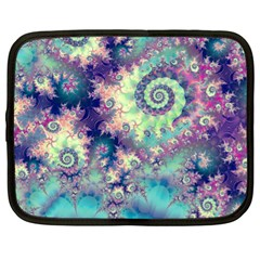 Violet Teal Sea Shells, Abstract Underwater Forest Netbook Case (xl) by DianeClancy