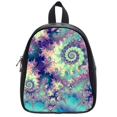 Violet Teal Sea Shells, Abstract Underwater Forest School Bag (small) by DianeClancy