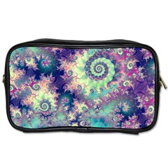 Violet Teal Sea Shells, Abstract Underwater Forest Toiletries Bag (two Sides) by DianeClancy
