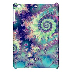 Violet Teal Sea Shells, Abstract Underwater Forest Apple Ipad Mini Hardshell Case by DianeClancy