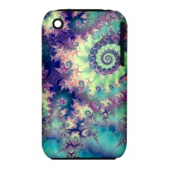 Violet Teal Sea Shells, Abstract Underwater Forest Apple Iphone 3g/3gs Hardshell Case (pc+silicone) by DianeClancy