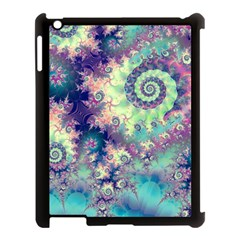 Violet Teal Sea Shells, Abstract Underwater Forest Apple Ipad 3/4 Case (black) by DianeClancy