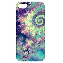 Violet Teal Sea Shells, Abstract Underwater Forest Apple Iphone 5 Hardshell Case With Stand by DianeClancy
