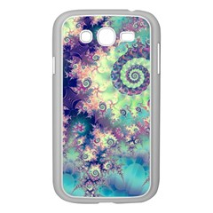 Violet Teal Sea Shells, Abstract Underwater Forest Samsung Galaxy Grand Duos I9082 Case (white) by DianeClancy