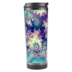 Violet Teal Sea Shells, Abstract Underwater Forest Travel Tumbler by DianeClancy