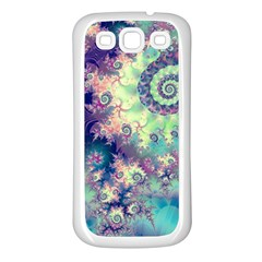 Violet Teal Sea Shells, Abstract Underwater Forest Samsung Galaxy S3 Back Case (white) by DianeClancy
