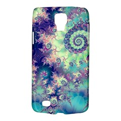 Violet Teal Sea Shells, Abstract Underwater Forest Samsung Galaxy S4 Active (i9295) Hardshell Case by DianeClancy