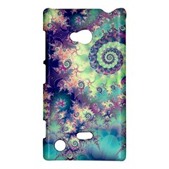 Violet Teal Sea Shells, Abstract Underwater Forest Nokia Lumia 720 Hardshell Case by DianeClancy
