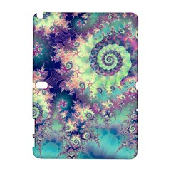 Violet Teal Sea Shells, Abstract Underwater Forest Samsung Galaxy Note 10 1 (p600) Hardshell Case