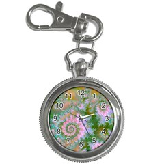 Rose Forest Green, Abstract Swirl Dance Key Chain Watch by DianeClancy
