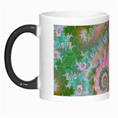 Rose Forest Green, Abstract Swirl Dance Morph Mug by DianeClancy