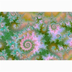 Rose Forest Green, Abstract Swirl Dance Canvas 20  X 30  (unframed) by DianeClancy