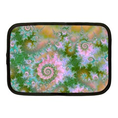 Rose Forest Green, Abstract Swirl Dance Netbook Sleeve (medium) by DianeClancy